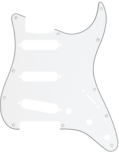 Fender 099.1360.000 STRAT PICKGUARD CHROME SSS