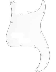 FENDER 099.1361.000 PICKGUARD 62 BASS WHITE