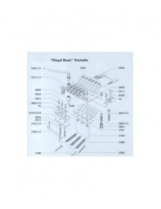 Schaller FLOYD ROSE PLANCHA METAL ALZA CEJUELA 0,1MM PACK 3U
