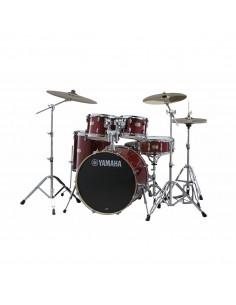 Yamaha Stage Custom Birch Standard Cranberry Red + HW680W