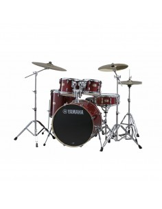 Yamaha Stage Custom Birch Studio Cranberry Red + HW680W