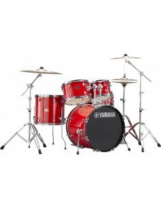 Yamaha Rydeen Standard Hot Rojo + Set Platos Paiste